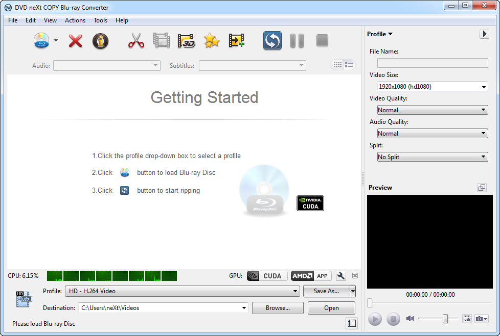 DVD neXt COPY Blu-ray Converter screenshot